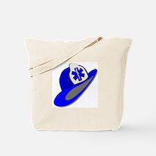 Blue EMS EMT helmet Tote Bag