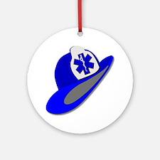 Blue EMS EMT helmet Ornament (Round)