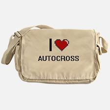 I Love Autocross Digital Retro Desig Messenger Bag