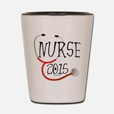 Nurse Graduate 2015 Stethoscope Shot Glass