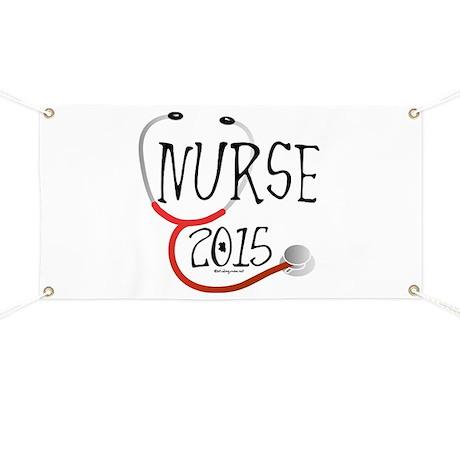 Nurse Graduate 2015 Stethoscope Banner by studiogumbo