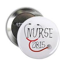 """Nurse Graduate 2015 Stethoscope 2.25"""" Button"""