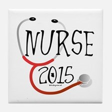 Nurse Graduate 2015 Stethoscope Tile Coaster