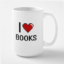 I Love Books Digital Retro Design Mugs