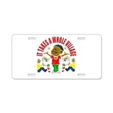 African American kids Aluminum License Plate