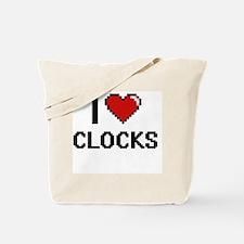 I Love Clocks Digital Retro Design Tote Bag