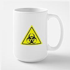 Yellow biohazard symbol Mugs