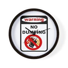 No Dumping Wall Clock