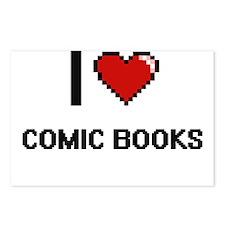 I Love Comic Books Digita Postcards (Package of 8)