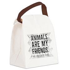 Unique Veganism Canvas Lunch Bag