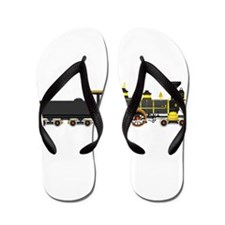 steam train black Flip Flops