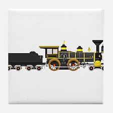 steam train black Tile Coaster