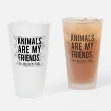 Funny Veganism Drinking Glass