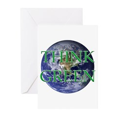 Think Green Earth Greeting Cards (Pk of 10)