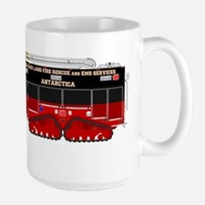 tracked rescue vehicle red Mugs