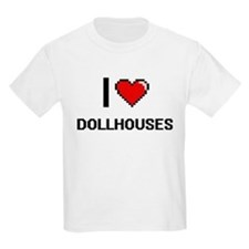 I Love Dollhouses Digital Retro Design T-Shirt