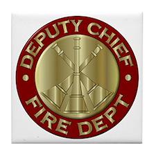 Cute Fire department Tile Coaster