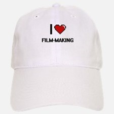 I Love Film-Making Digital Retro Design Baseball Baseball Cap