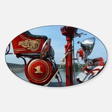 Funny Antique truck Sticker (Oval)