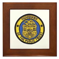 Social Security Special Agent Framed Tile