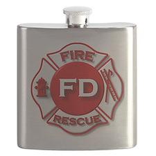 Cute Firefighter retirement Flask