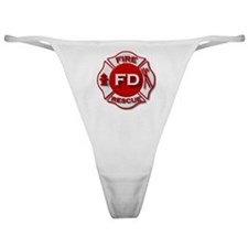 Cute Retired firefighter Classic Thong