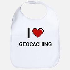 I Love Geocaching Digital Retro Design Bib