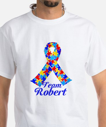 Custom Autism White T-Shirt