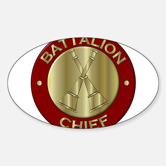 battalion chief brass fire department Decal