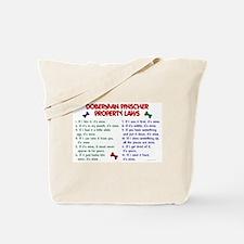 Doberman Pinscher Property Laws 2 Tote Bag