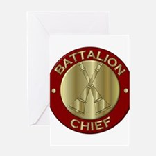 battalion chief brass fire departme Greeting Cards