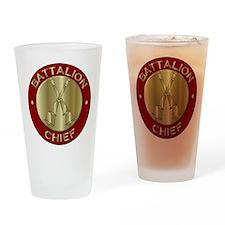battalion chief brass fire departme Drinking Glass