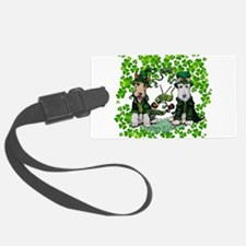 Fox Terrier St. Patrick's Day Luggage Tag