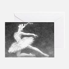 Swan Dancer Single Greeting Card