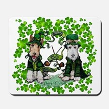 Fox Terrier St. Patrick's Day Mousepad