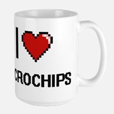 I Love Microchips Digital Retro Design Mugs
