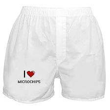 I Love Microchips Digital Retro Desig Boxer Shorts