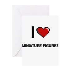 I Love Miniature Figures Digital Re Greeting Cards
