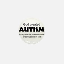 Autism offsets boredom Mini Button (10 pack)