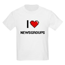 I Love Newsgroups Digital Retro Design T-Shirt