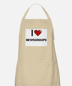 I Love Newsgroups Digital Retro Design Apron
