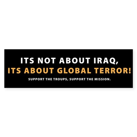 It's not about Iraq!