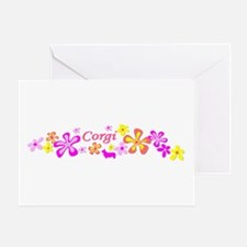 Corgi Flowers Greeting Card