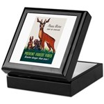 Prevent Forest Fires Keepsake Box