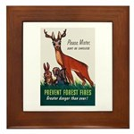 Prevent Forest Fires Framed Tile
