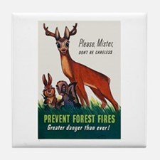 Prevent Forest Fires Tile Coaster