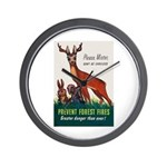 Prevent Forest Fires Wall Clock