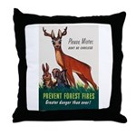 Prevent Forest Fires Throw Pillow