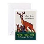 Prevent Forest Fires Greeting Cards (Pk of 20)