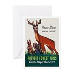 Prevent Forest Fires Greeting Card